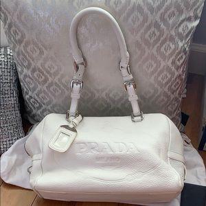 Authentic Beautiful Prada Leather Bianco White